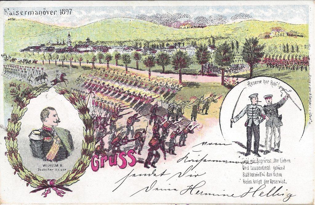 Ansichtskarte Kaisermanöver 1897