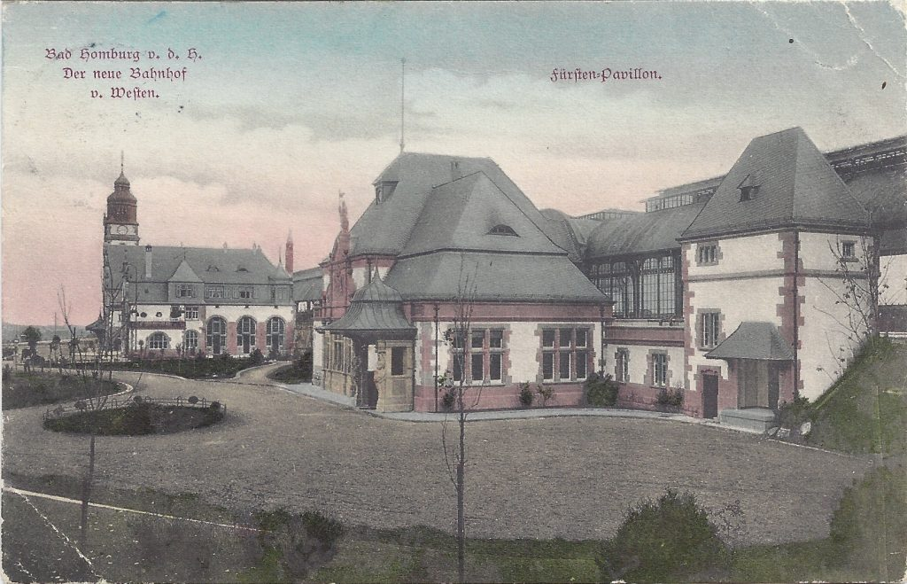 Ansichtskarte Bahnhofsgelände mit Fürsten-Pavillion