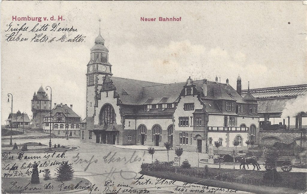 Ansichtskarte Neuer Bahnhof