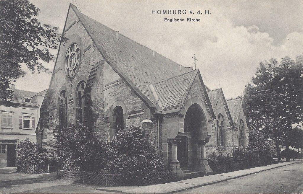 Ansichtskarte Englische Kirche, Eingangsportal