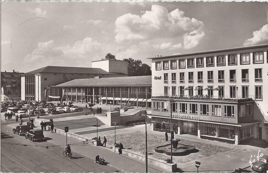 AK Front Kurhaus 60er Jahre