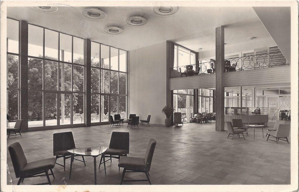 AK Innenansicht Kurhaus 60er Jahre
