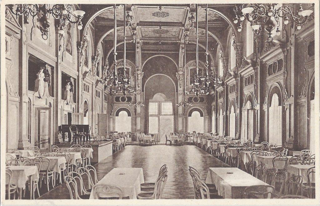 AK Speisesaal im alten Kurhaus Bad Homburg