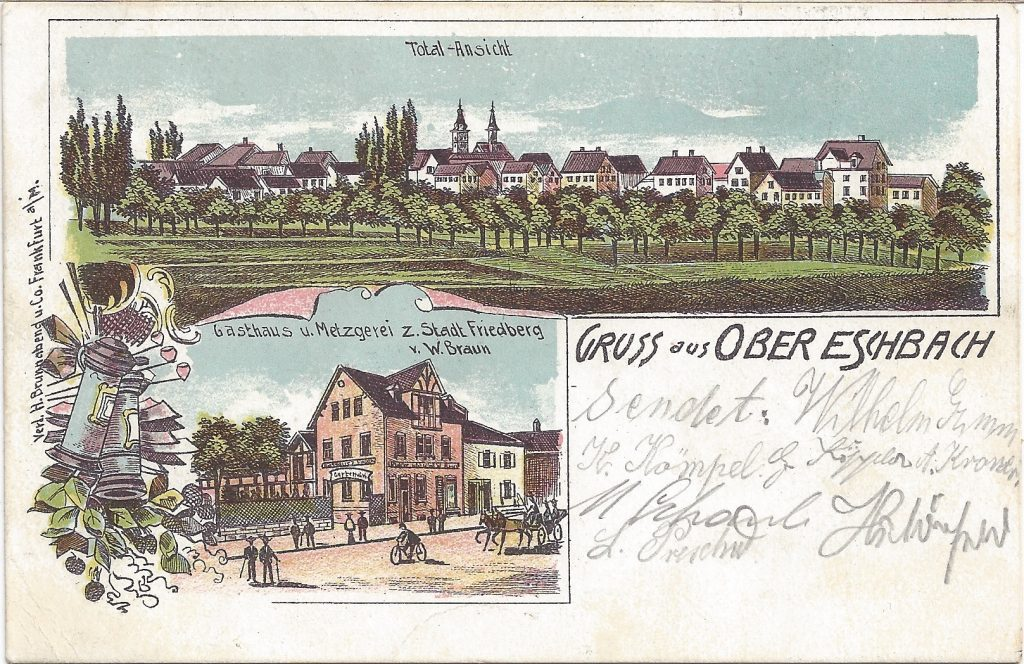 ANsichtskarte Stadt Friedberg