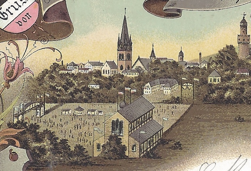 Detailbild der Ansichtskarte vom Mittelrheinischen Turnfest 1897 in Bad Homburg
